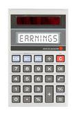Old calculator - earnings — Stock Photo