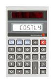 Old calculator - costs — Fotografia Stock