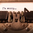 Vintage inscription made by old typewriter — Stock Photo #68862909