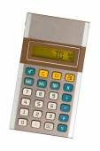 Old calculator showing a percentage - 70 percent — Stock Photo