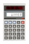 Old calculator - winner — Stock Photo