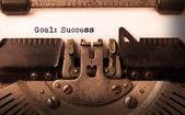 由旧打字机的老式题词 — 图库照片