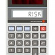 Old calculator - risk — Stock Photo #69513181