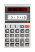 Old calculator - tax free — Zdjęcie stockowe