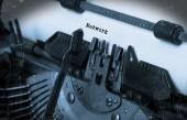 Stara maszyna do pisania z papieru — Zdjęcie stockowe