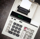 Old calculator - sell — Stock Photo
