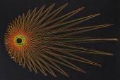Display of colorful threads — 图库照片