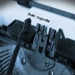 Old typewriter with paper — Stock Photo #70052443