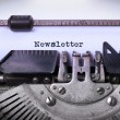 Vintage inscription made by old typewriter — Stock Photo #70052417
