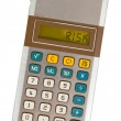 Old calculator - risk — Stock Photo #70359027