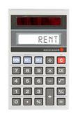 Old calculator - rent — ストック写真