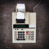 Old calculator - withdraw — Stock Photo
