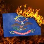 Flag burning - North Dakota — Stock Photo #70762361