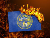 Flag burning - Nebraska — Stock Photo
