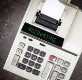 Stará kalkulačka - účetnictví — Stock fotografie
