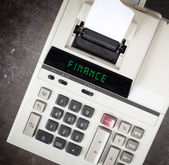 Old calculator - finance — Stock Photo
