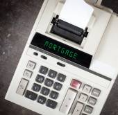Old calculator - mortgage — Stock Photo