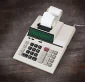 Old calculator - budgeting — Stock Photo