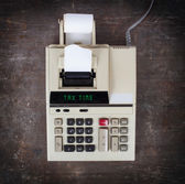 Old calculator - tax time — Stock Photo