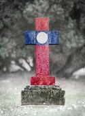 Gravestone in the cemetery - Laos — Stock Photo