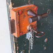 Old lock in a prison — Stock Photo