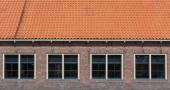 Old red roof — Stock Photo