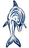 Niebieski delfin — Wektor stockowy
