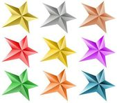 Colored stars set — Stockvektor