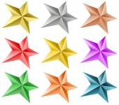 Colored stars set — Stok Vektör