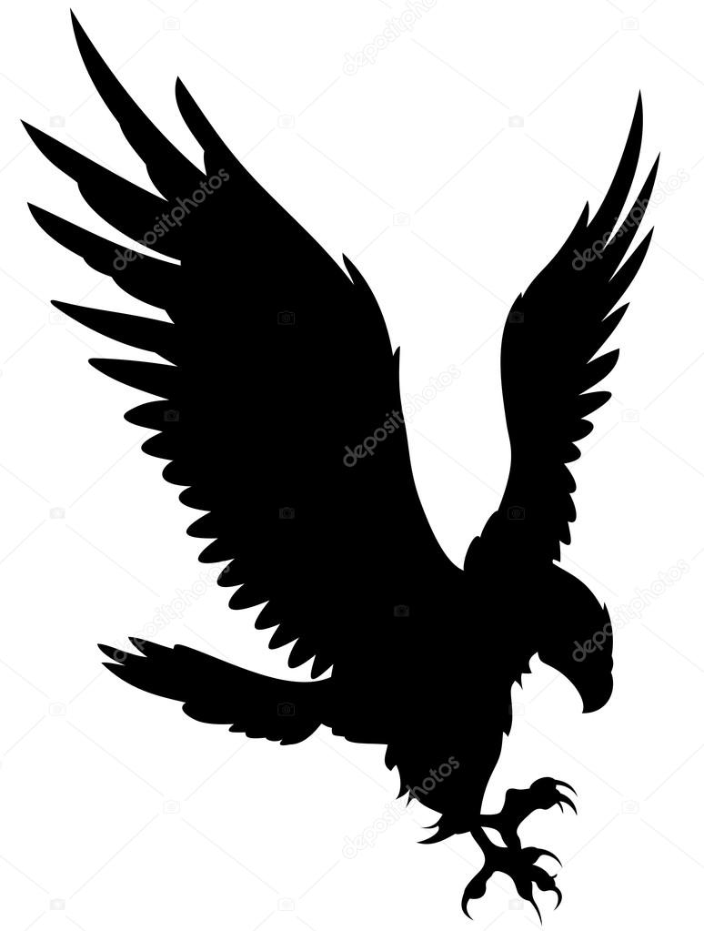 eagle head clipart black and white
