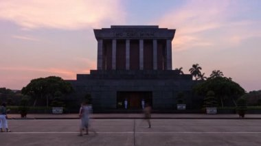 Ho Chi Minh Mausoleum — Stock Video