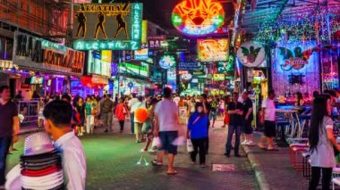 Walkking Street of Pattaya, Thailand — Stock Video