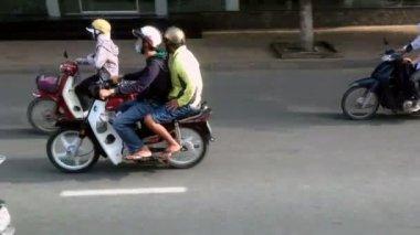 People on motorbikes — Stock Video