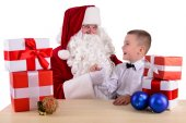 Santa Claus and child — Stock Photo