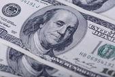 Honderd dollar bankbiljetten — Stockfoto