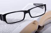Book with a glasses — Stock Photo