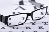 Reading black eyeglasses — Stock Photo