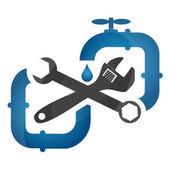 Symbol plumbing and repair — Stock Vector