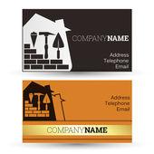 Business card construction — Stock Vector