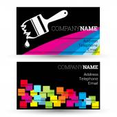 Business card for businesses painting — Stock Vector
