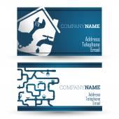 Business card repair waterpipe — Stock Vector