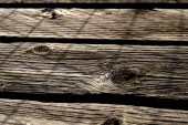 Knots in weathered wood slat — Stock Photo