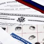 Immigration Naturalzation Documents — Stock Photo #75302439