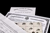 Immigration Documents — Stock Photo
