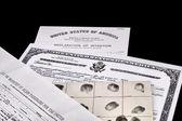 Immigration Documents — Stock Photo