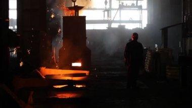 Melting iron — Stock Video