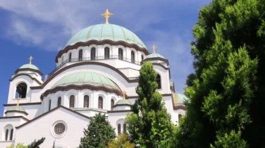 Temple of Saint Sava in Belgrade — Stock Video