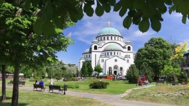 Temple of Saint Sava in Belgrade — 图库视频影像