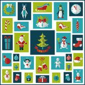 Set of Christmas flat graphic elements — Stock Vector