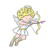 Cute sketch Cupid — Stock Vector